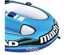Nouveau -airhead Mach 2 Gonflable 2-rider Eau Towable Tube, Bleu + Livraison Gratuite