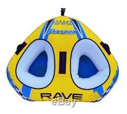 Nouvelles Rave Sport 02648 Fastrax Gonflable Deux Rider Tractable Eau Tube