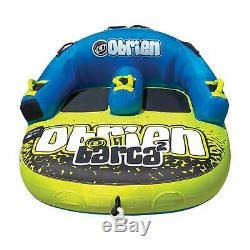 Obrien Barca 2 Kickback Gonflable 2 Personne Rider Tractable Bateau Eau Tube Raft
