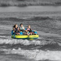 Obrien Barca 3 Kickback Gonflable 3 Personne Rider Tractable Bateau Eau Tube Raft