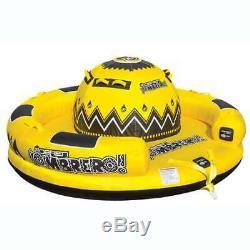 Obrien Gonflable 4 Personne Sombrero Tractable Bateau Eau Tube, Jaune (open Box)