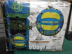 Obrien Ultra Screamer Inflatable Towable Water Tube Watersports 1-3 Riders Nib
