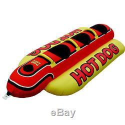 Pneumatique Gonflable Bateau Gonflable Rafting 3 Personnes Airhead Hot Dog Sports Nautiques