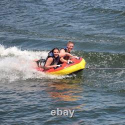 Raft Tube D'eau Remorquée Ski 2 Personnes Coupe Gonflable Bateau Water Sports Pool USA
