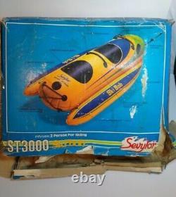 Rare Ski Bob St3000 Sled Bateau Remorqué Tube D'eau Jet Ski Deux Personnes Luge Nouveau