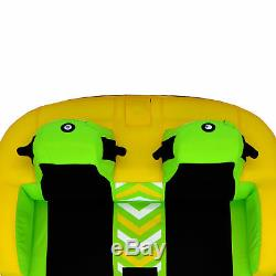 Rave Sport 75 Stoked Rider 2 Tube Gonflable Tractable Double Eau (2 Pack)