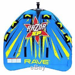 Rave Sport Gonflable 3 Personne Rider Tractable Bateau D'eau Du Lac Tube Razor Raft