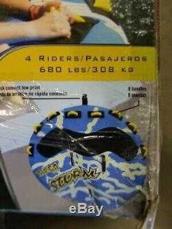 Rave Sport Mega Tempête 4 Rider Gonflable Flotteur Tractable Bateau Tube