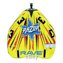 Rave Sport Razor Gonflable 2 Personne Rider Tractable Bateau D'eau Du Lac Tube Raft
