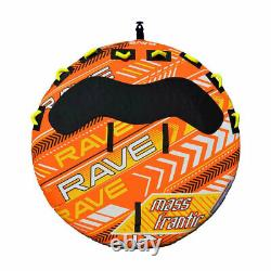 Rave Sports 2709 Mass Frantic 4 Rider Gonfleable Water Float Towable Boat Tube