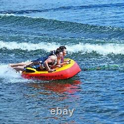 Rave Sports Diablo III Gonflable 3 Personne Cavalier Towable Boat Water Tube Raft