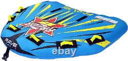 Rave Sports Gonflable 3 Personne Cavalier Towable Boat Lake Water Tube Razor Raft