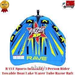 Rave Sports Gonflable 3 Personnes Cavalier Remorqué Bateau Lac Tube D'eau Razor Raft