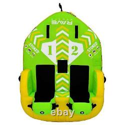 Rave Sports Stoked 75 Pouces 2 Rider Assis Gonfleable Double Tube D'eau