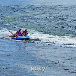 Rave Sports Storm Gonflable 2 Personnes Cavalier Remorque Bateau Lake Water Tube Raft