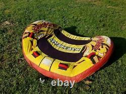 Remorquable Gonflable 2 Personnes Airhead Savage Tube Ski Water Lake Raft Fun Ride