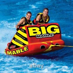 Remorque Gonflable Big Mable Tow Sitting 2 Rider Boat Lake Tube Water Sports Nouveau
