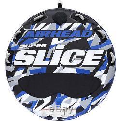 Round Bleu Gonflable Tractable 3 Rider Lac Natation Tube Navigation Eau Float Nouveau