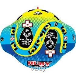 Ruby 2 Personnes Le Tube Soeur Salon Tractable Gonflable Ski Nautique Nouvelle