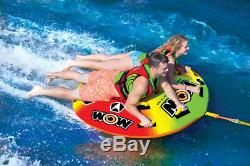 Sports Aquatiques Wow Uto Galaxy 2 Rider Gonflable Tube Bateau Tractable 18-1080