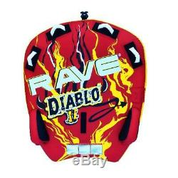 Sports Nautiques Diablo II Gonflable 2 Personne Rider Tractable Bateau Eau Tube Raft