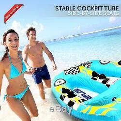Sports Nautiques Gonflable Tractable Booster Tube Deux Personnes Eau Nautique Flotteur De Remorquage