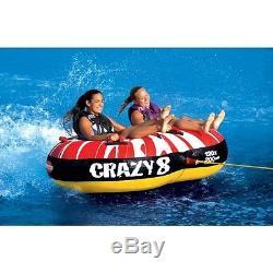 Sports Nautiques Stupéfiant Crazy 8 Tube D'eau Remorquable Rider 2 Personnes 53-1450