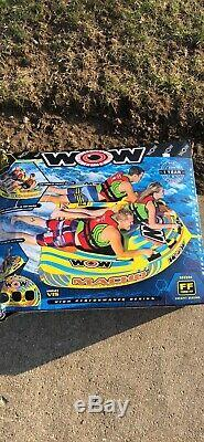 Sports Nautiques Wow Macho 3 Rider Gonflable Pont Tube Bateau Tractable 16-1030
