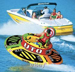 Sports Nautiques Wow Uto Starship 5 Rider Gonflable Tube Bateau Tractable Preowned