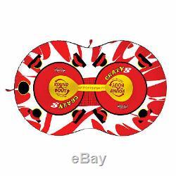 Sportsstuff 53-1450, Crazy 8 Tractable Double Rider Eau Gonflable Bateau Tube