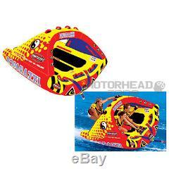 Sportsstuff 53-1750 Poparazzi Tractable Eau Bateau Tube Gonflable 3 Rider