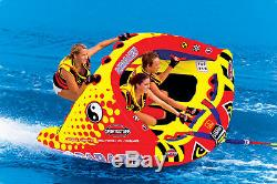 Sportsstuff 53-1750 Tube D'eau Pour Bateau Remorquable Gonflable Poparazzi Triple Rider
