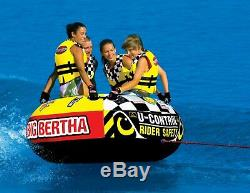 Sportsstuff Big Bertha 53-1329 Tractable 1-4 Personnes Bateau Lac Sports Nautiques Tube