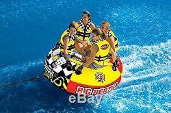 Sportsstuff Big Bertha 53-1329 Tube D'eau Tractable Pour 4 Personnes Au Lac Boat (boîte Ouverte)