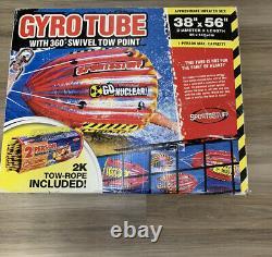 Sportsstuff Gyro Tube Towable Water Boat Tube 53-1815wr Cône Rouge 36x56 360 Deg