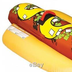 Sportsstuff Hot Dog 2 Personne Bateau Gonflable D'eau Du Lac Towable Tube (3 Pack)