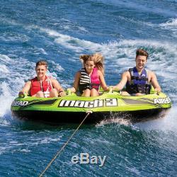 Sportsstuff Mach 3 Gonflable Triple Rider Tractable D'eau Du Lac Ocean Rivière Tube