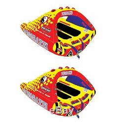 Sportsstuff Poparazzi Triple Rider Gonflable Tractable Bâteau Tube (2 Pack)