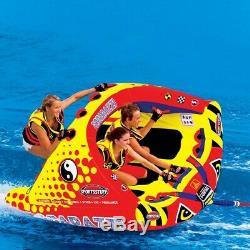 Sportsstuff Poparazzi Triple Rider Gonflable Tractable Tube Pour L'eau 53-1750