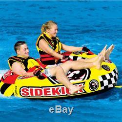 Sportsstuff Sidekick 2 Double Rider Cockpit Gonflable Tractable D'eau Du Lac Tube