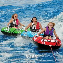 Sportsstuff Sidewinder 3 Rider Gonflable Towable Tube Float Lake Water 3 En 1