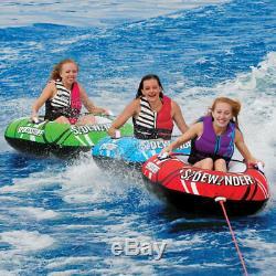 Sportsstuff Sidewinder 3 Rider Lac Gonflable Eau Towable Tube Flotteur (2 Pack)