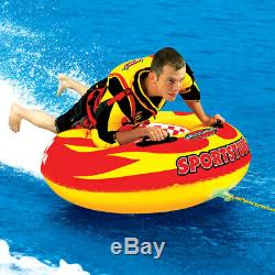 Sportsstuff Sportstube Vip Gonflable Tractable Cavalier Seul Eau Tube (4 Pack)