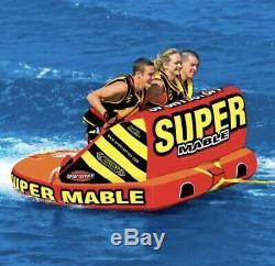 Sportsstuff Super Mable 1-3 Rider Towable Tube Pour L'eau Nautique Sport Nouveau