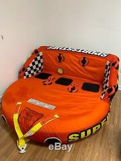 Sportsstuff Super Mable 3 Personne Tractable Eau Tube Bateau Lac De Remorquage Gonflable Kid