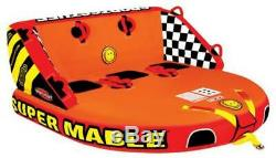 Sportsstuff Super Mable Gonflable Eau 1 3 Rider Tube Bateau Tractable 53-2223