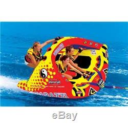 Sportsstuff Tube D'eau Poparazzi Triple Rider Pour Bateau Remorquable Gonflable (boîte Ouverte)