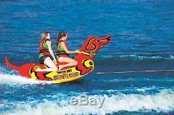 Super Dog 2 Personne Bateau Gonflable Tractable Pont Tube Eau De Remorquage Raft Flotteur