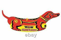 Super Dog Towable Tube Avec Poignées Heavy Duty Gonflable Bateau, 2 Personnes