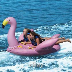 Swimline Solstice Eau Sport Gonflable Flamingo De 1 À 2 Rider Boat Towable Tube